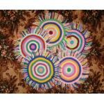 Коврик с разноцветной бахромой